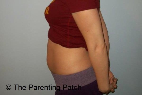 Baby Bump Week 9 of Pregnancy 1