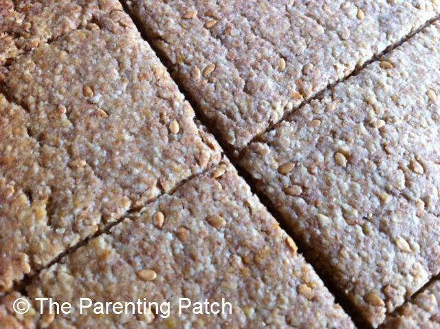 Oatmeal, Whole Wheat, and Flax Seed Crackers