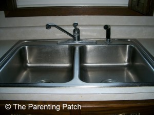 Sink Cleaned with Ecosential by Smart Choice Stainless Steel Cleaner