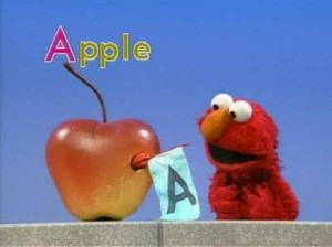 A: Apple (Elmo Sketches)