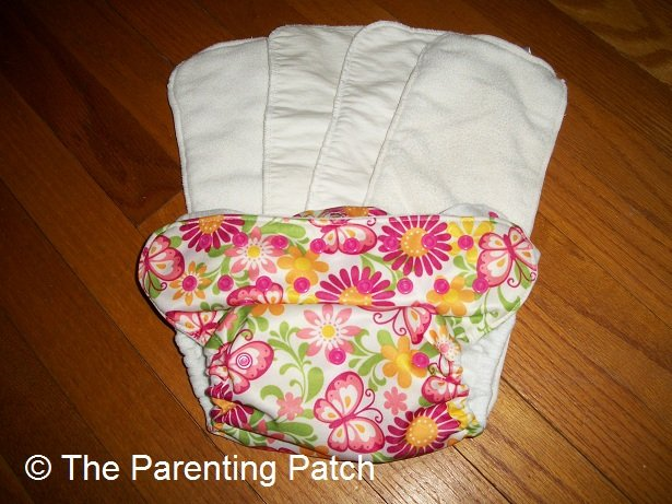 Blueberry Pocket Diaper with Alva Baby Blend Inserts and Sunbaby Bamboo Inserts