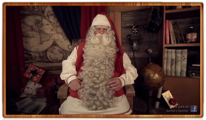Personalized Santa Claus Birthday Greeting Screenshot 1