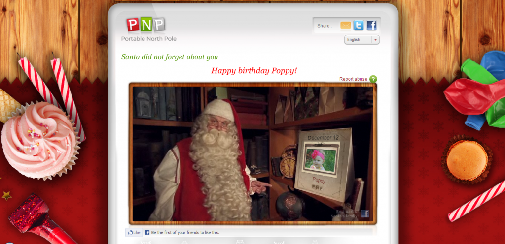 Personalized Santa Claus Birthday Greeting Screenshot 2
