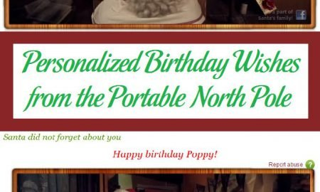 Personalized Birthday Wishes from the Portable North Pole