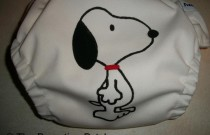 Snoopy Diaper: From Poppy Cloth by The Parenting Patch