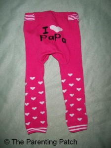 Back of Alva Baby Leggings