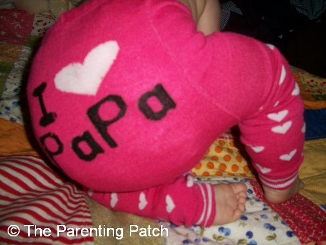 I ♥ Papa Alva Baby Leggings 1