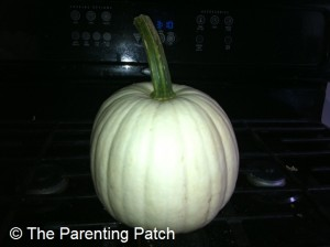 White Pumpkin on Stove