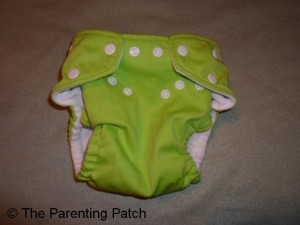 Apple Green FuzziBunz Cloth Diaper 1