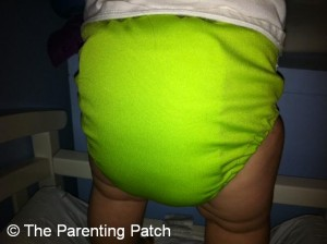 Apple Green FuzziBunz Cloth Diaper 10