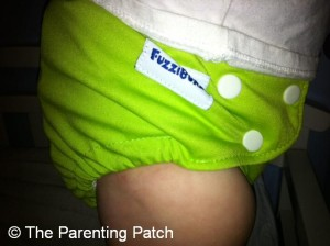 Apple Green FuzziBunz Cloth Diaper 11