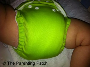 Apple Green FuzziBunz Cloth Diaper 5