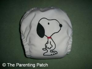 White FuzziBunz Cloth Diaper 2