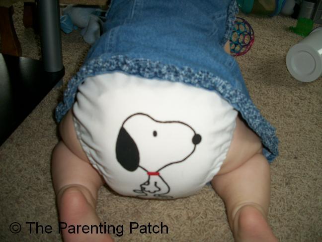 White FuzziBunz Cloth Diaper 5
