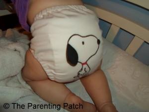White FuzziBunz Cloth Diaper 8