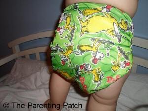 Green Eggs and Ham Bumkins Cloth Diaper 8