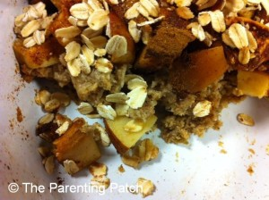 Apple Crumble with Zucchini Spice Crust