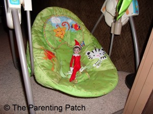 The Elf on the Baby Swing