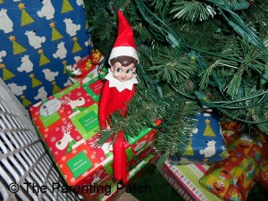 The Elf on the Christmas Gift