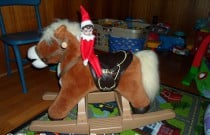 The Elf on the Rocking Horse: The Elf on the Shelf Day 14