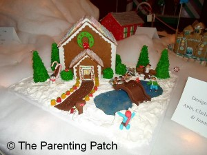 Gingerbread House with Pond