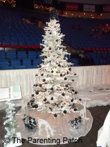 White and Black Christmas Tree