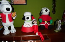 The Elf with Snoopy: The Elf on the Shelf Day 19
