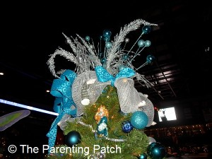 Blue and Silver Christmas Tree Topper