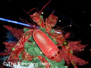 Red Ruby Slipper Christmas Tree Topper