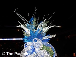 Blue and White Christmas Tree Topper