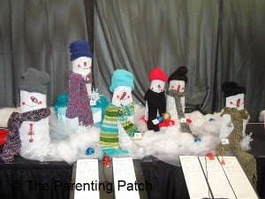Abstract Snowmen Christmas Table Decoration