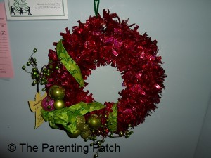 Red with Green Christmas Wreath