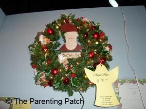 Red and Green Santa Christmas Wreath