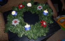 Making an Advent Wreath: Day 23 of 25 Days of Christmas