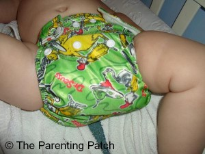 Front of the Bumkins All-in-One Diaper