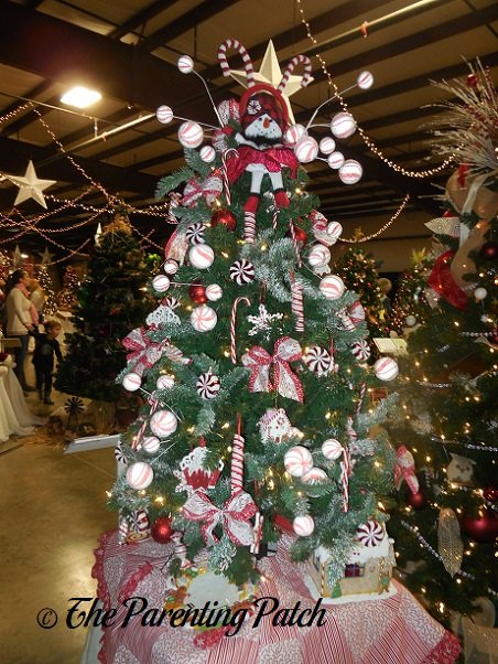 Candy Cane Snowman Christmas Tree