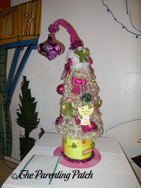Pink Tabletop Christmas Tree