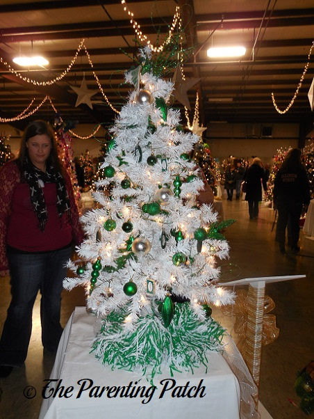 White and Green Christmas Tree