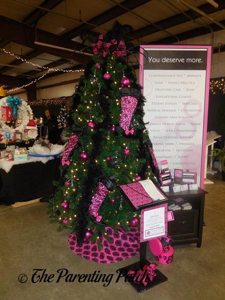 Pink and Black Christmas Tree