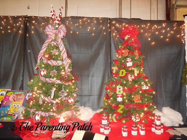 Miniature Red Christmas Trees