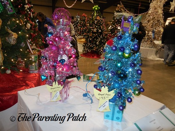 Pink and Blue Miniature Christmas Trees