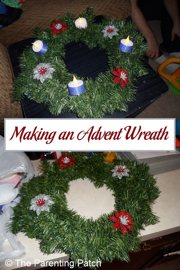 Making an Advent Wreath