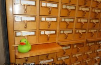 The Duck on the Library Card Catalog: The Rubber Ducky Project Week 5