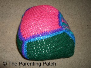 Crocheted Cube Baby Toy