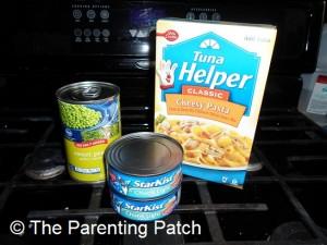 Canned Peas, Canned Tuna, and Cheesy Pasta Tuna Helper