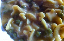 Sneaking in the Vegetables: Cheesy Pasta Tuna Helper and Peas