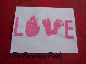 Handprint and Footprint LOVE Valentine Card 3