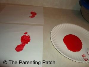 Making Paint Footprints