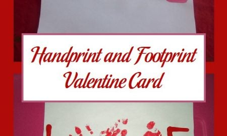 Handprint and Footprint Valentine Card