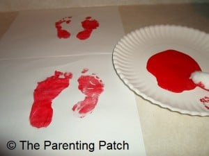 Painted Toddler Footprints